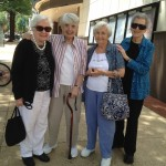 Residents from left to right: Jeanne Graef, Mickey Moore, Ethel Corrigan and Ellye Polinsky.
