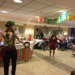 Hula dancing for the residents in The Springs during the event.