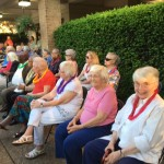 Residents enjoying the show.