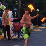 More fire dancing for the residents to enjoy.