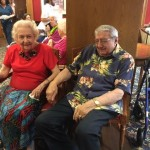 Residents wearing their traditional Luau outfit.