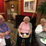 Residents enjoying each others company.