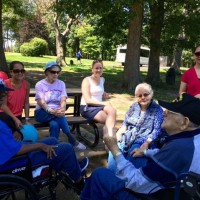 Picnic at Fort Ward Park 2 - Sharing stories while enjoying the park