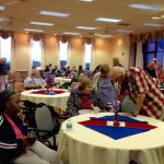 Well attended event and residents enjoying their time socializing with each other.