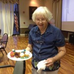 Smiling resident showing a nice plate of the 4th of July goodies.