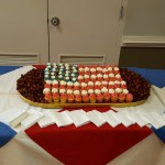 Creative cupcake flag display especially prepared for 4th of July event by The Fountains Dining Services Team.