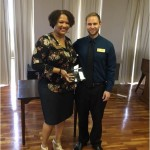Executive Director John Niebauer presented the Thrive award to Joy Hart, HR Director