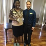 Fema Watson, Business Office manager received a Thrive award