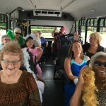 Residents and Associates having fun on the bus