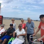 Residents enjoying the beautiful beach weather.