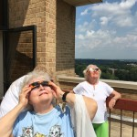 More residents still continue to watch the eclipse.