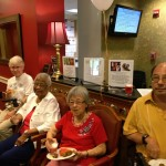 Residents gathered together during social time.