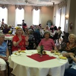 Residents meeting new friends in the community while enjoying the music.