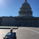 One of the residents was happy to pose in front of the U.S. Capitol.