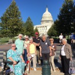 Residents getting ready to explore the historic building of the U.S. Capitol.