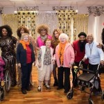 Happy residents with the cast of Salute to Divas.