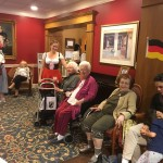 Accordionist was moving around to serenade our residents during mix and mingle.