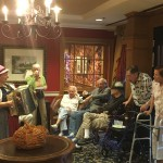 Another group of residents having a great time with our accordionist.
