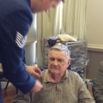 Pinning ceremony of one of our veterans