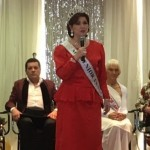 One of the former winner of Ms. Virginia Senior America was singing an Opera song.