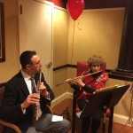 Flutists David Lonkevich and Sara Stern performing Asian music in The Springs.