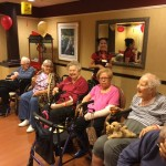 Residents in The Springs during the social event.