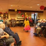 Traditional Chinese dance performance in The Springs.