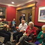 Residents enjoying themselves while listening to Dixieland music.