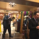 Bill Mulligan's Jazz Trio setting the mood for our Fat Tuesday event by playing New Orleans style Jazz music.