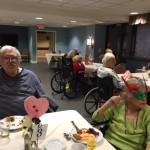 Residents in The Springs enjoying our social hour.