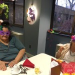 Having a fun time with their masks on and listening to our Jazz musicians.