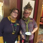 Washington House posing during our Mardi Gras cocktail event.