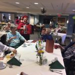 Our accordionist was serenading our residents in The Springs during our Paris themed social hour.