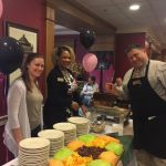 Wonderful team at The Fountains having a great time serving our residents during social hour.