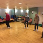 Residents enjoying their weekly Line Dancing class.