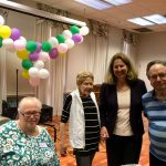 Mayor Silberberg socializing with our residents.