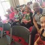 Happy smiles selfie with the residents before the performance.