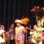 Performers on stage during the show.