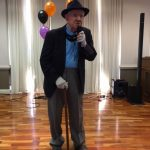 One of the residents dressed up like Frank Sinatra for an impromptu comedy program