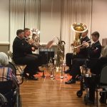 Navy Brass quartet during their performance