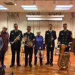 Some of the veterans with the U.S. Navy Band Brass Quartet