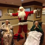 Santa cheers our residents in The Springs