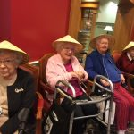 Residents enjoying the social hour