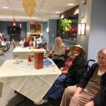 Residents were paying attention to the beautiful serene Chinese music during socials