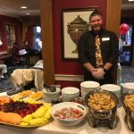 Dining Services Director ready to served the residents with our specialty appetizers