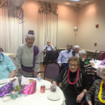 Happy faces of the residents having a great time with their friends