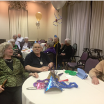 Residents socializing while listening to a live band music