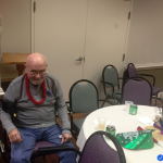 Resident enjoying the New Year's party