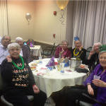 Residents enjoying the company of friends on New Year's Eve