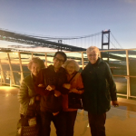 Capturing the bay bridge on the cruise top deck